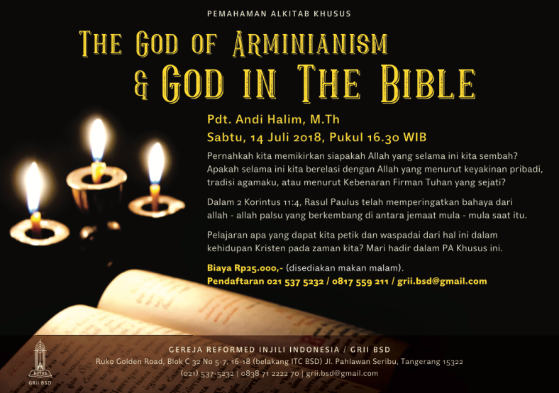 Seminar Armenianism and God in the bible